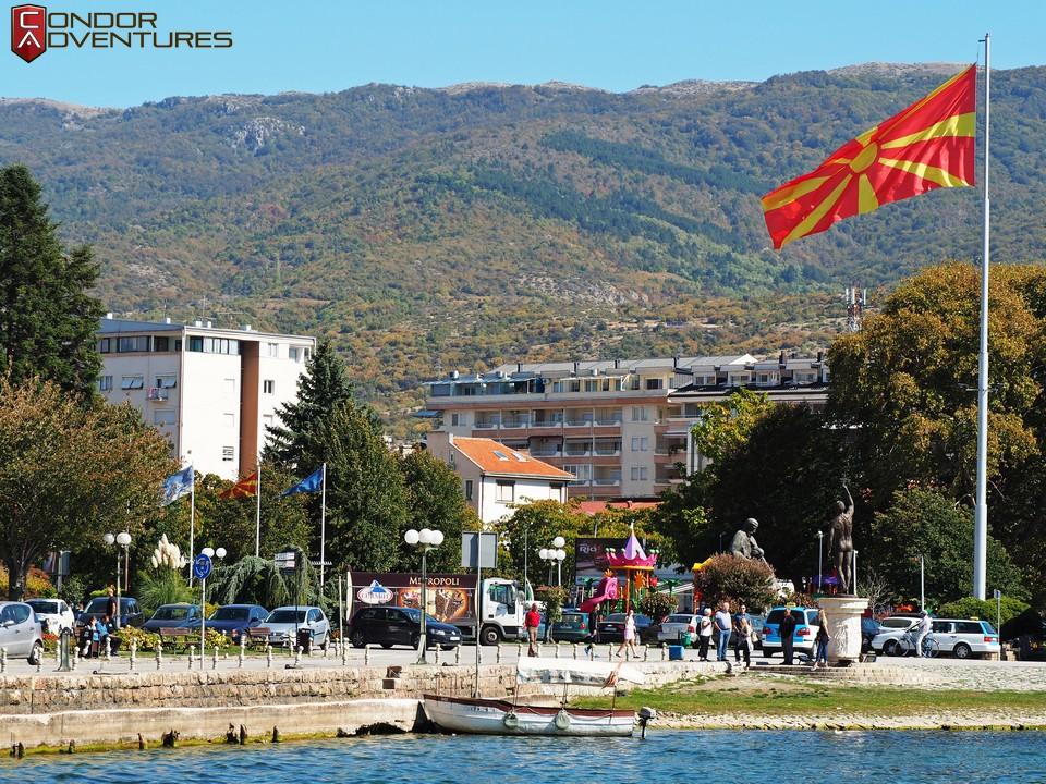 biker dog-brigi-explorealbania-motoros túra-condorriders-macedonia-ohrid